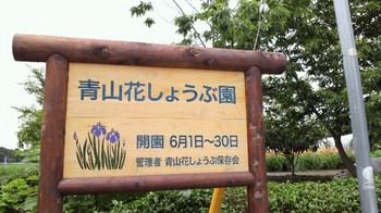 青山花しょうぶ園・看板