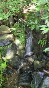 吐玉泉下の小さな滝